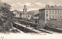 POLAND - POLOGNE - WARSZAWA, Dworzec Dr. Zel. Warsz. Wied. TRAIN STATION - RARE !!!!!! - Polen