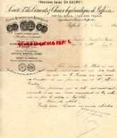 18- BEFFES - JOUET- RARE LETTRE MANUSCRITE SIGNEE STE CIMENTS CHAUX HYDRAULIQUES-USINE CH. DAUMY- CIMENT-1896 - France