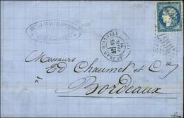 GC 3667 / N° 44 Type 1 Belles Marges Càd T 17 ST JEAN D'ANGELY (16) 18 FEVR. 71. - TB / SUP. - R. - 1870 Uitgave Van Bordeaux