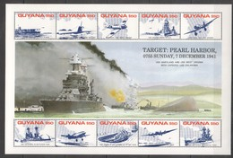 L964 GUYANA WORLD WAR 2 TARGET PEARL HARBOR 1KB MNH - 2. Weltkrieg