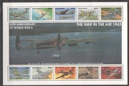 L966 GUYANA AVIATION WORLD WAR 2 WAR IN THE AIR 1943 1KB MNH - 2. Weltkrieg