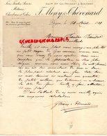 21- DIJON- RARE LETTRE MANUSCRITE SIGNEE F. MONY & THEVENARD- CH. PRUDENT & BOUCHET- FERS FONTES ACIERS-CHARBONS-1881 - France