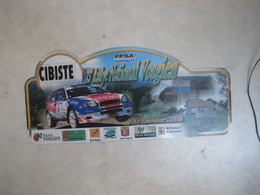 PLAQUE DE RALLYE   23 EME RALLYE NATIONAL VOSGIEN  2008 - Plaques De Rallye