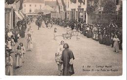 Halle- Hal-+/-1910-Cortège Marial-Maria's Leven-La Fuite En Egypte-Carrousel-Manège Au Bout De La Rue-pas Courante - Halle