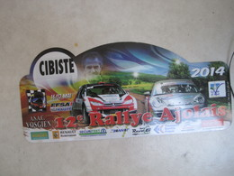 PLAQUE DE RALLYE    12 E RALLYE AJOLAIS  2014 - Plaques De Rallye