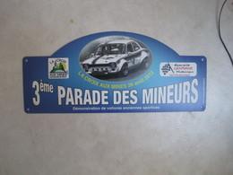 PLAQUE DE RALLYE    3 EME PARADE DES MINEURS  2012 - Rallye (Rally) Plates