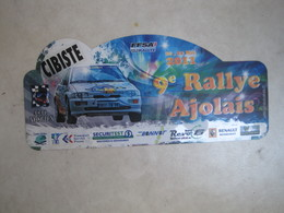 PLAQUE DE RALLYE    9 EME RALLYE AJOLAIS  2011 - Plaques De Rallye