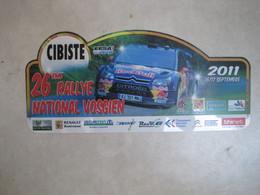 PLAQUE DE RALLYE    26 EME RALLYE NATIONA VOSGIEN 2011 - Plaques De Rallye