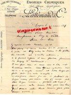 49 - ANGERS-RARE LETTRE MANUSCRITE SIGNEE   LALLEMAND-ENGRAIS CHIMIQUES-USINE DES GAUBOURGS-7 RUE ANJOU-1899 - France