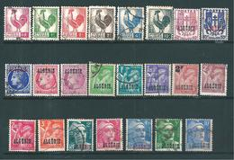 Colonie Timbres D'algérie  De 1944/47  N°218 A 241 Oblitérés - Gebraucht