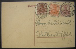 1920 Helzen Entier Postal Avec Complément D'affranchissement ( Deutsches Reich Allemagne) - Lettres & Documents