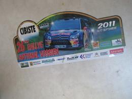 PLAQUE DE RALLYE   26 Eme RALLYE NATIONAL VOSGIEN - Rallye (Rally) Plates