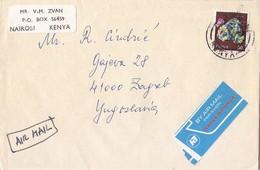 Kenya Airmail Cover Sent To Yugoslavia - Kenya (1963-...)