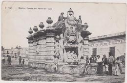 Cpa,méxique,mexico,fuente   Del Salto Del Agua,monument Historique Qui Rappelle Les Conquistadors - Mexique