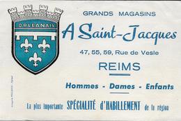 REIMS Marne Buvard Grands Magasins A SAINT JACQUES Rue De Vesle - Textile & Vestimentaire