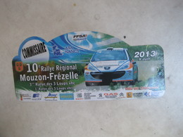 PLAQUE DE RALLYE   10 EME RALLYE REGIONAL MOUZON FREZELLE 2013 - Plaques De Rallye