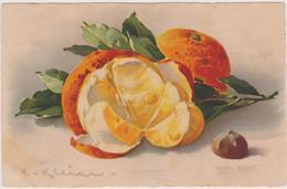 Cpa,signée,illustrateur,artiste Reconnue,klein,n°237,l' Amour De L'orange,les Pépins,la Noisette,l'espagne - Klein, Catharina