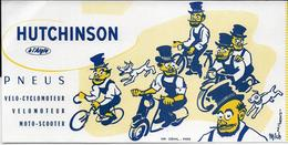 Buvard HUTCHINSON Pneus Vélo Cyclomoteur Moto Illustrateur - Bikes & Mopeds