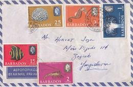 Barbados Airmail Cover Sent To Yugoslavia 1968 - Barbados (1966-...)