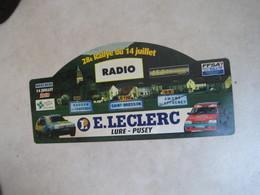 PLAQUE DE RALLYE  28 E RALLYE DU14 JUILLET     2010 - Rallye (Rally) Plates