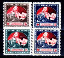 Lettonia-0026 - 1920: Y&T N. 55/58 (+) LH - Senza Difetti Occulti.) - Latvia