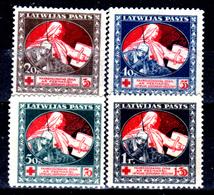 Lettonia-0027 - 1920: Y&T N. 55/58 (+) LH - Senza Difetti Occulti.) - Latvia