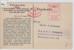 1937 1. HAPAG Telegramm Merok Motorschiff Milwaukee - AK Merok Hamburg-Amerika Linie 5.8. - Maritime