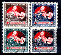 Lettonia-0028 - 1920: Y&T N. 55/58 (o) Used - Senza Difetti Occulti.) - Latvia