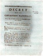 Relatif Au Mode De Paiemens Des Instituteurs Des Petites écoles,& De L'organisation Des écoles Primaires.3 Pp.1793-94 - Decreti & Leggi