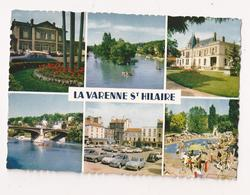 ( 94 ) LA VARENNE SAINT HILAIRE La Gare Le Square L'Ecole Piscine La Place 2cv Aronde 4cv Fiat 500 DS - France