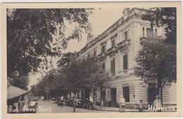Carte Photo Nord ,viet-nam,asie,asia,HAIPH ONG,rue Paul Bert,village De Pècheur,colonisation Française ,bombardée 1945 - Viêt-Nam