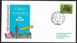 1989 - CANADA - Cover + Y&T 1082 [Ursus Arctos Horribilis] + OTTAWA - 1952-.... Regering Van Elizabeth II