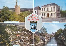 72 LA CHARTRE SUR LE LOIR / MULTIVUES / BLASON - France