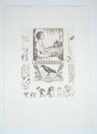 Ex-libris Moderne XXème Illustré -  Allemagne - Femme Au Livre - Oiseaux, Corbeaux - KREYENBERG - Ex Libris