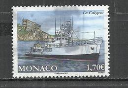 MONACO 2017 - SHIP CALYPSO - USED OBLITERE GESTEMPELT USADO - Bateaux