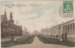 Cpa,belgique,gent-gand 1913,royaume De Belgique,situé En Région Flamande ,au Confluent De La Lys,avenue Des Nations - Gent