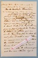 L.A.S Camille ROQUEPLAN Peintre Né à Mallemort (Bouches Du Rhône) élève De Gros Et Pujol - Lettre Autographe Rocoplan - Autographes