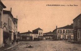 Gers  -  L'isles Jourdain - La Place Thiers - Hotel De France -  SC72-2 -  R/v - Autres Communes