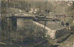 CARTE PHOTO - INTERIEUR DU RAVIN - War 1914-18