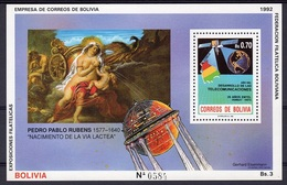 Bolivia 1992, Art, Rubens, Satellite, BF - Space
