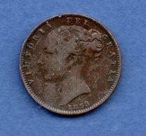 Grande Bretagne   - 1 Farthing 1853    --  Km # 725 -   -  état   TB - 1816-1901 : Frappes XIX° S.