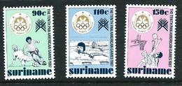 SURINAME MNH - 1987 The 10th Pan-American Games, Indianapolis - Vari Cent - Michel SR 1214 1216 - Suriname