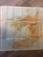 Mappa Antica 1897 Carta Del Teatro Degli Avvenimenti D'Oriente Guerra Greco Turca - Geographical Maps