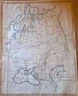 """Mappa Incisione Acquarellata 700 """"Russia Europea"""" Ago. Costa - Geographical Maps"""