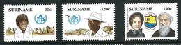 SURINAME MNH - 1987 International Year Of Shelter For The Homeless - Vari Cent - Michel SR 1220 1222 - Suriname