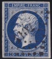 France  .      Yvert   .     14Ab  .  Bleu Noir                .         O    .     Oblitéré - 1853-1860 Napoleon III