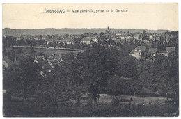 Cpa Meyssac - Vue Générale, Prise De La Barotte (cachet Hexagonal Perlé, Martel, Lot ) - France