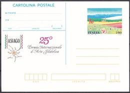ITALIA REPUBBLICA CARTOLINA POSTALE ASIAGO 25° PREMIO INTERNAZIONALE D' ARTE FILATELICA ANNO 1995 - 6. 1946-.. Repubblica