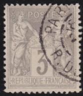 France  .      Yvert    .       87    .     O    .     Oblitéré - 1876-1898 Sage (Type II)