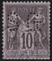 France  .      Yvert    .       89        .     O    .     Oblitéré - 1876-1898 Sage (Type II)
